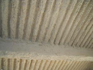 igniver-intonaco-antincendio-spruzzato-su-lamiera-gragata-e-travi-in-ferro - Stevanato   Soluzioni per umidità e infiltrazioni